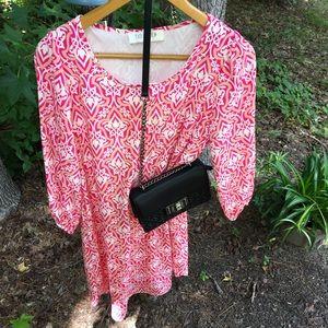 Peach Love Cream long sleeve dress (used)